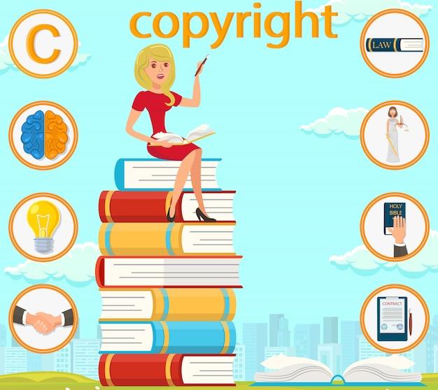 Prawa autorskie brain light bulb hand signed contract. Premium Wektorów