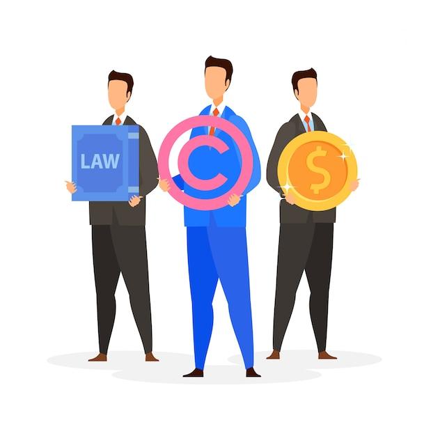 Prawna firma konsultingowa ilustracji wektorowych płaski Premium Wektorów