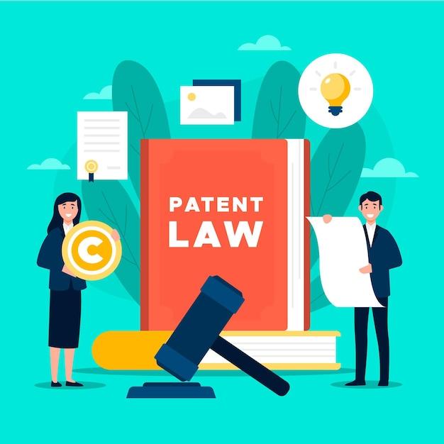 Prawo Patentowe I Książka Darmowych Wektorów