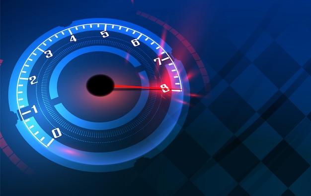 Prędkość ruchu tło z szybkiego prędkościomierza samochodem. prędkość wyścigowa Premium Wektorów