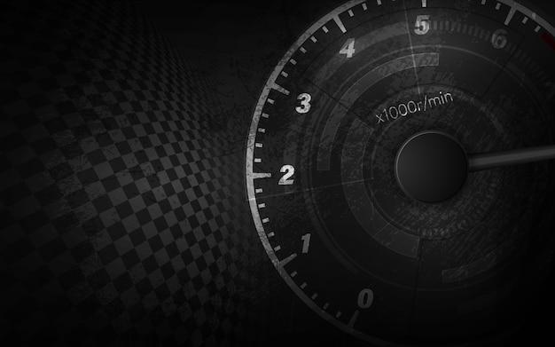 Prędkość Ruchu Tło Z Szybkiego Prędkościomierza Samochodem. Wyścigi Prędkości Tło. Premium Wektorów