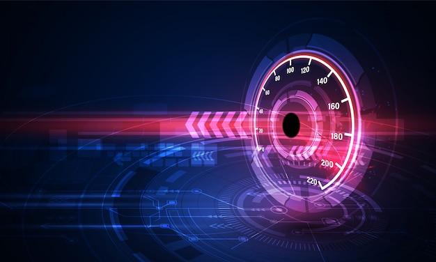 Prędkość Ruchu Tło Z Szybkiego Prędkościomierza Samochodem Premium Wektorów