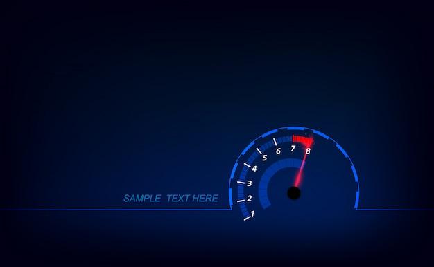 Prędkość ruchu tło z szybkim prędkościomierza tłem. Premium Wektorów