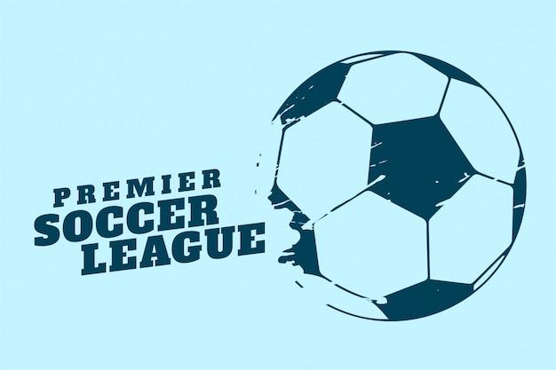 Premier Piłka Nożna Lub Turniej Piłki Nożnej W Tle Darmowych Wektorów