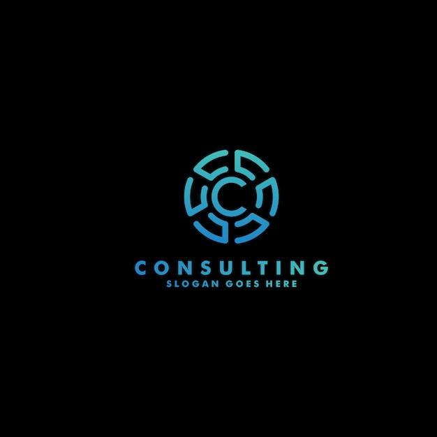 Premium litera c logo wektor Premium Wektorów