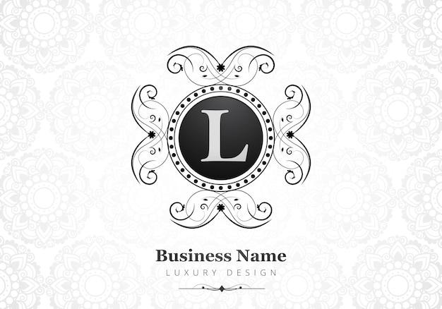 Premium Luksusowe Logo Litery L Dla Firmy Darmowych Wektorów