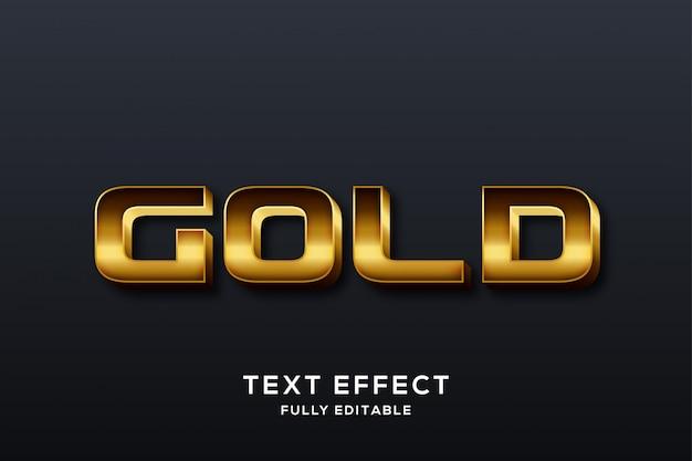 Premium Luxury Gold Text Effect Premium Wektorów