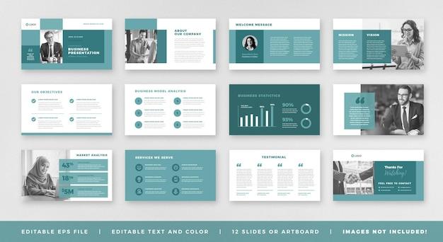 Prezentacja Biznesowa Broszura Przewodnik Projekt Lub Szablon Slajdu Lub Suwak Przewodnika Sprzedaży Premium Wektorów