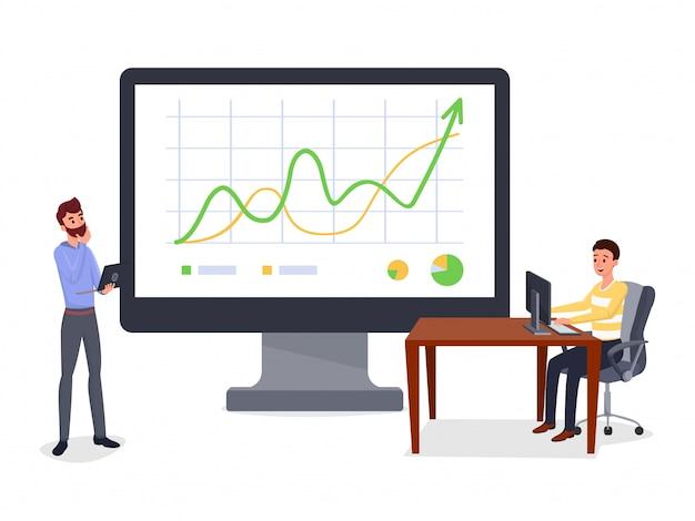 Prezentacja biznesowa, raport Premium Wektorów