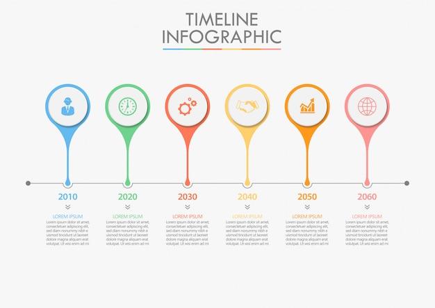 Prezentacja biznesu infografika szablon Premium Wektorów