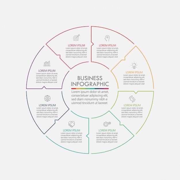 Prezentacja Firmy Koło Infographic Szablon Premium Wektorów