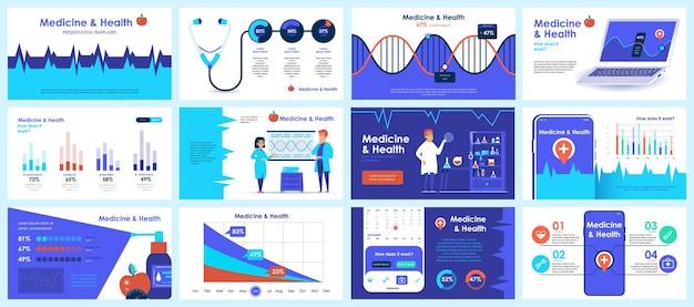Prezentacje Dotyczące Koronawirusa Przedstawiają Szablony Slajdów Z Elementów Infografiki Premium Wektorów
