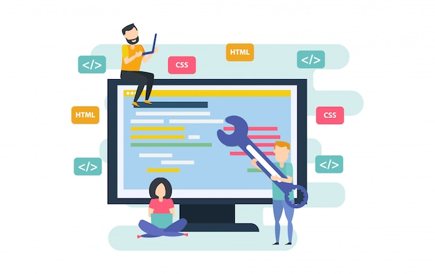 Proces Tworzenia Aplikacji Desktopowych Premium Wektorów