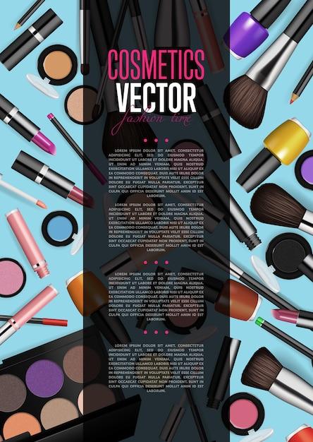 Produkt kosmetyczny broszura promocyjna układ strony Premium Wektorów