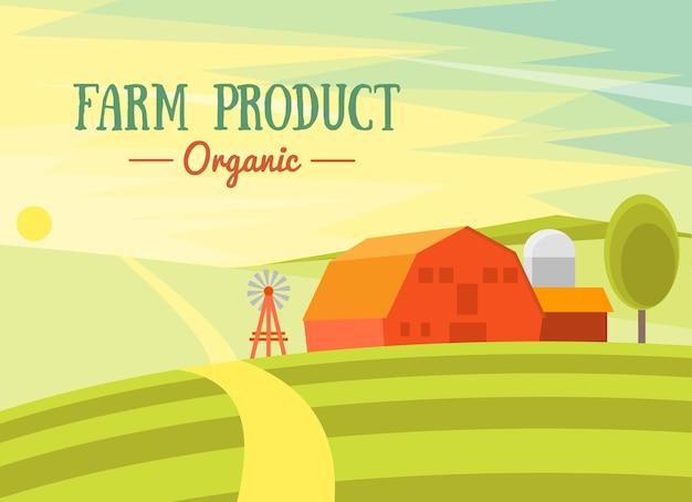Produkt Rolniczy Ekologiczny. Premium Wektorów