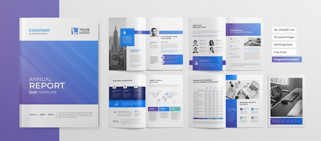 Profesjonalna Broszura Lub Prezentacja Biznesowa Premium Wektorów
