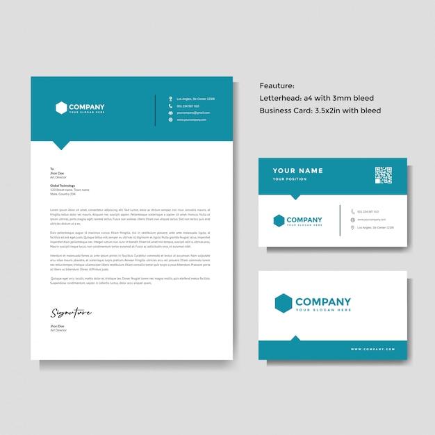 Profesjonalny Kreatywny Szablon Papier Firmowy I Wizytówki Premium Wektorów
