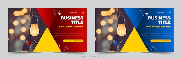 Profesjonalny Szablon Transparent Premium Wektorów