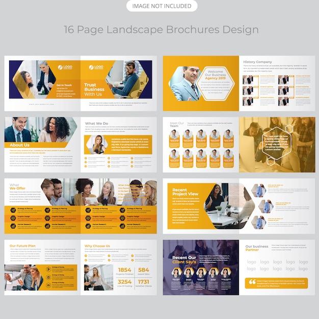 Profil firmy projekt broszury Premium Wektorów