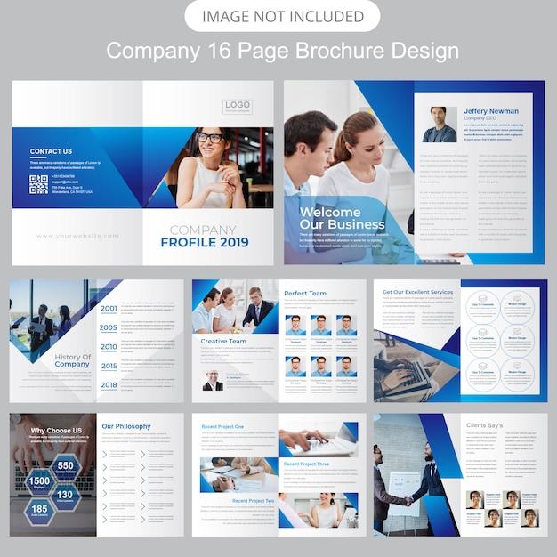 Profil firmy prospekty reklamowe Premium Wektorów