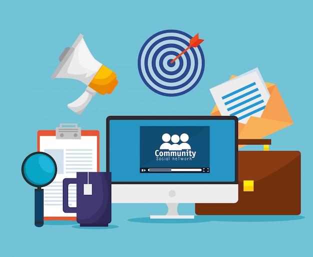 Profil Społecznościowy Do Komunikatu O Współpracy Darmowych Wektorów