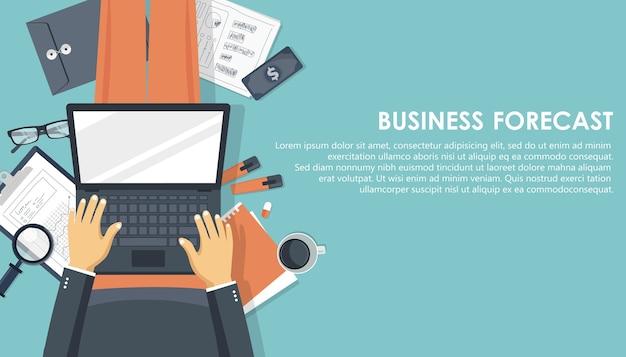 Prognoza Biznesowa Transparent. Premium Wektorów