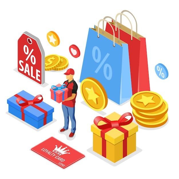 Programy Lojalnościowe W Ramach Marketingu Zwrotów Klientów. Premium Wektorów