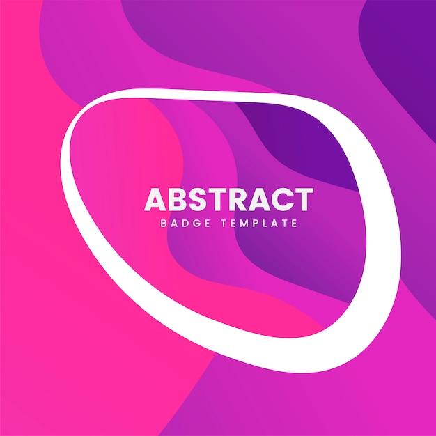 Projekt abstrakcyjna odznaka na różowo Darmowych Wektorów