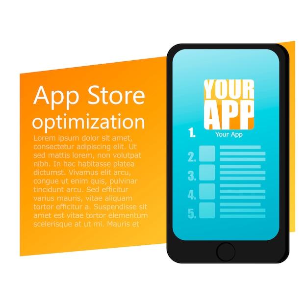 Projekt aplikacji mobilnej telefonu komórkowego Darmowych Wektorów