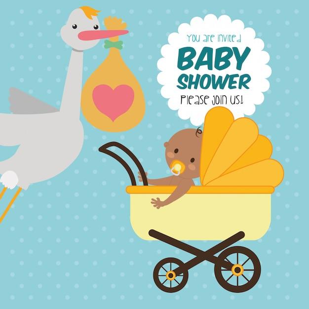 Projekt Baby Shower Premium Wektorów