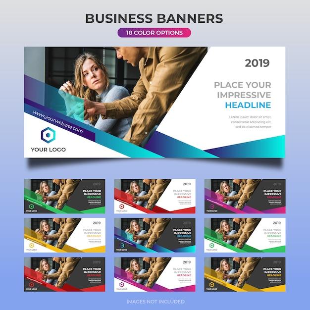 Projekt banera internetowego firmy 28 Premium Wektorów