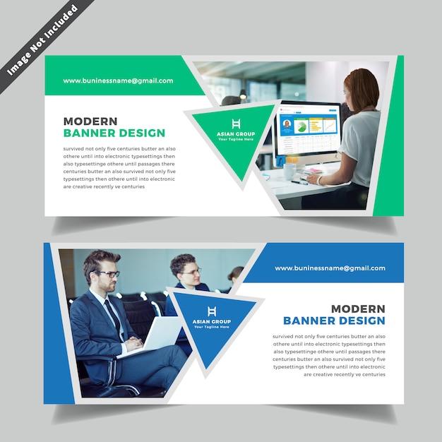 Projekt Baneru Internetowego Firmy Premium Wektorów