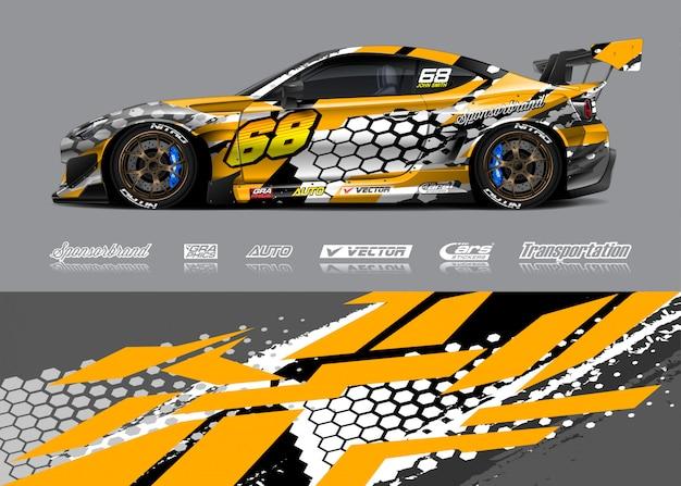 Projekt Barwy Samochodu Wyścigowego Premium Wektorów
