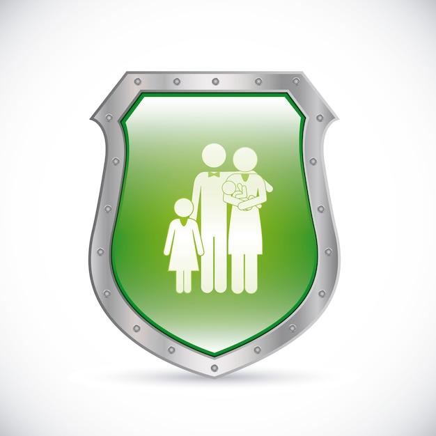 Projekt bezpieczeństwa Premium Wektorów