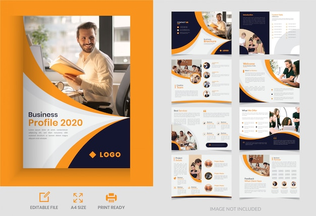 Projekt Broszury Biznesowej Na Stronie Korporacyjnej Premium Wektorów