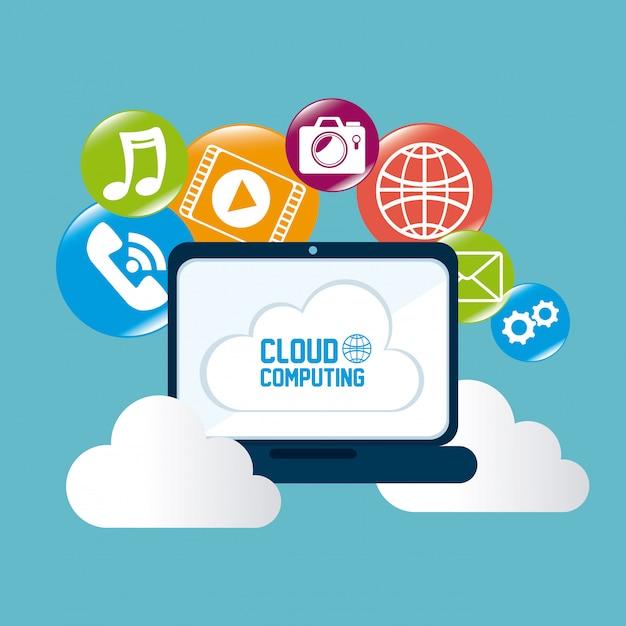Projekt cloud computing. Premium Wektorów
