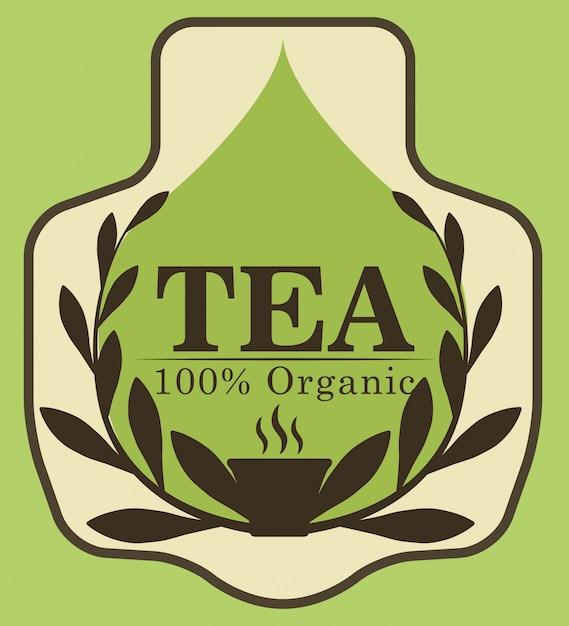 Projekt czasu na herbatę Premium Wektorów