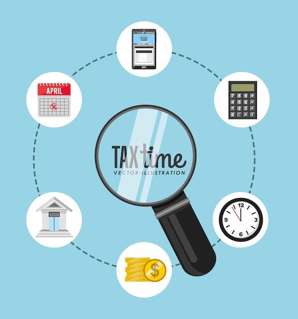 Projekt czasu podatkowego Darmowych Wektorów