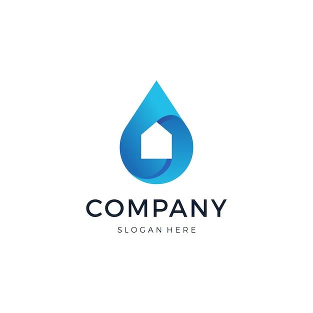 Projekt domu logo upuść wektor Premium Wektorów