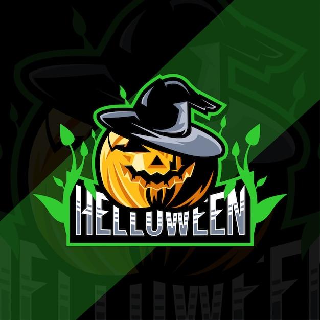 Projekt Esport Maskotki Halloween Dynia Premium Wektorów