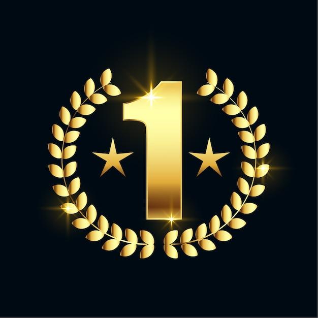 Projekt Etykiety Błyszczącej Złotej Gwiazdy Numer Jeden Darmowych Wektorów