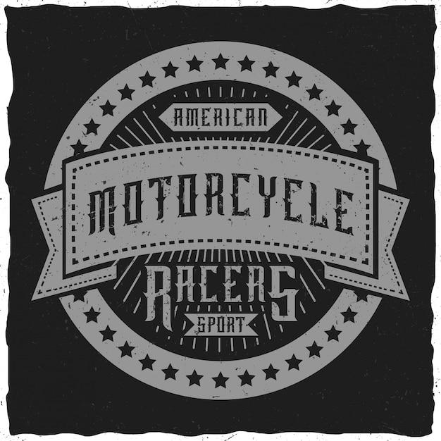 Projekt Etykiety / Koszulki Na Temat Motocykla. Premium Wektorów