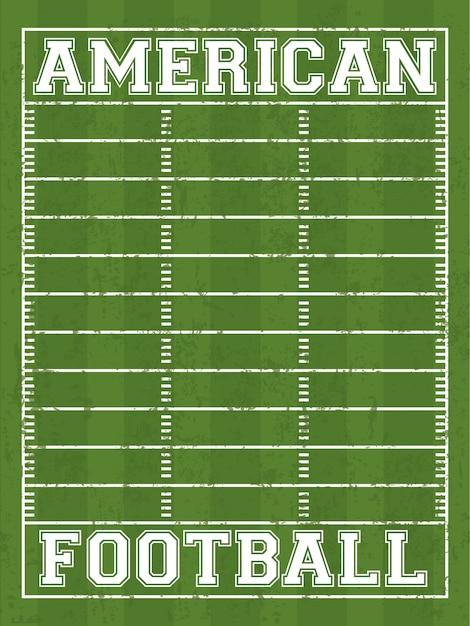 Projekt Futbolu Amerykańskiego Premium Wektorów