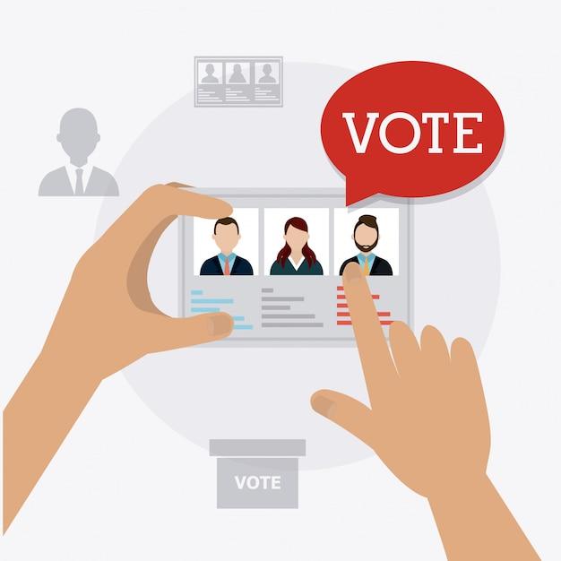 Projekt głosowania. Premium Wektorów