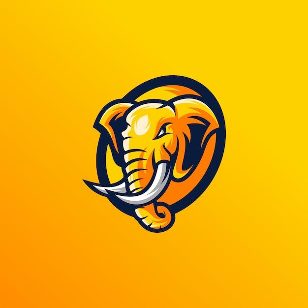 Projekt głowy słonia Premium Wektorów