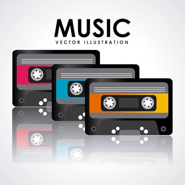 Projekt Graficzny Kasety Z Muzyką Darmowych Wektorów