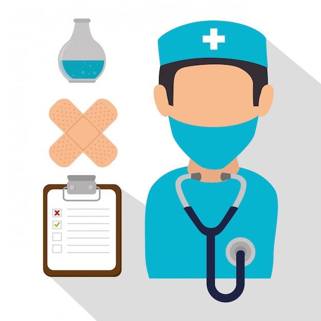 Projekt Graficzny Medycznej Opieki Zdrowotnej Darmowych Wektorów
