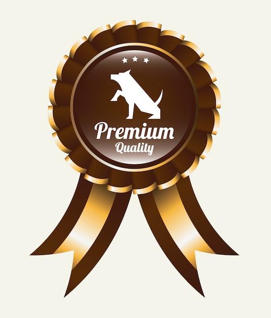 Projekt graficzny zwycięzcy medalu dla zwierząt domowych Darmowych Wektorów