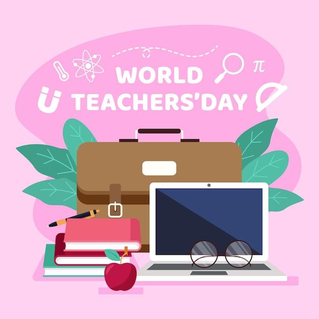 Projekt Ilustracji Dzień Nauczyciela Darmowych Wektorów