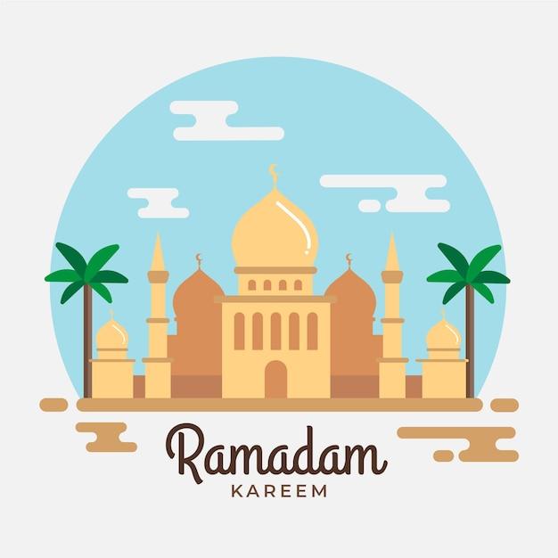 Projekt Imprezy Ramadan Z Taj Mahal Darmowych Wektorów